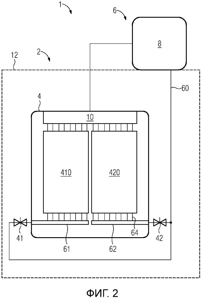 Охлаждающее устройство, вентильный преобразователь с охлаждающим устройством и способ охлаждения вентильного преобразователя
