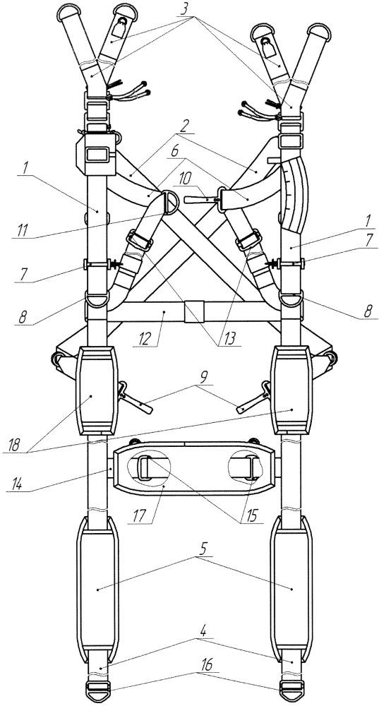 Подвесная система для парашютных систем