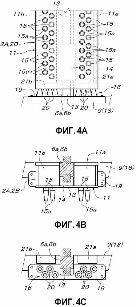 Поднимающее/опускающее транспортировочное устройство контейнера для транспортировки изделия
