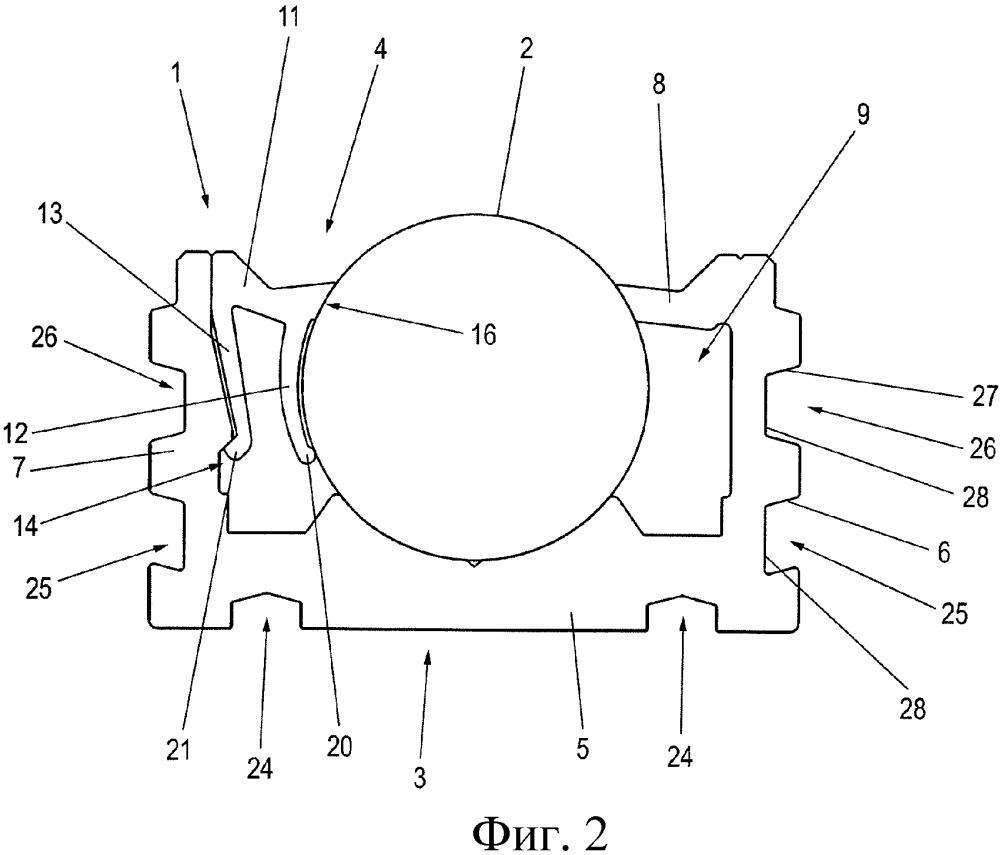 Опорный профиль и рельсовая система