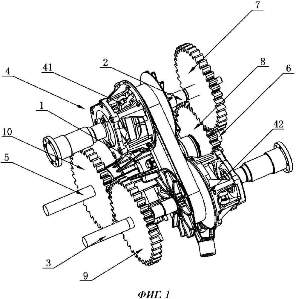 Бесступенчатый механизм поворота гусеничной машины