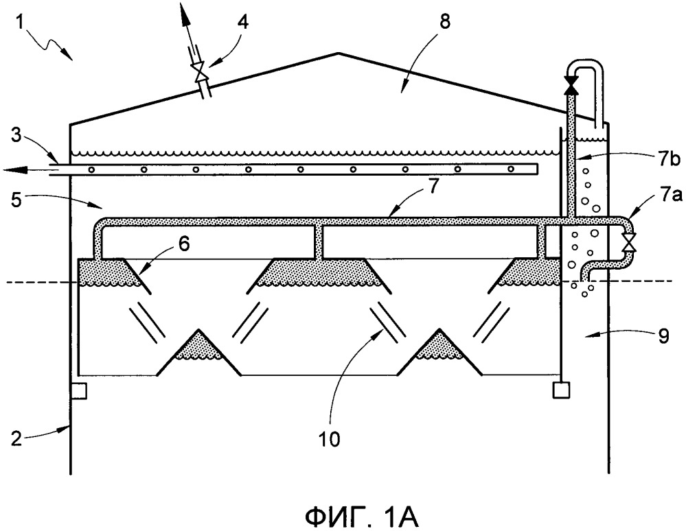 Способ и установка для очистки in situ газосепаратора в анаэробном биореакторе