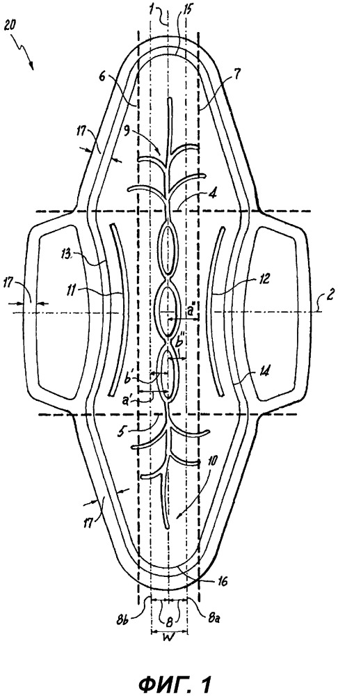 Абсорбирующее изделие, демонстрирующее управляемую деформацию и продольное распределение жидкости