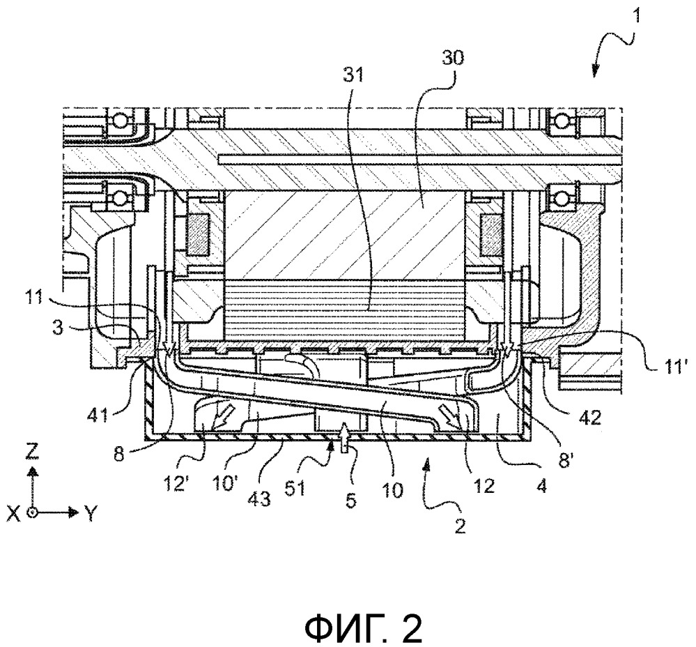 Охлаждающее устройство для электрической машины