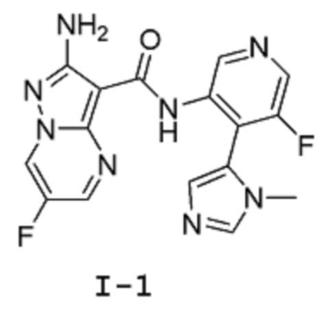 Радиоактивно меченные производные 2-амино-6-фтор-n-[5-фтор-пиридин-3-ил]-пиразоло[1, 5-а]пиримидин-3-карбоксамида, используемые в качестве ингибитора atr киназы, препараты на основе этого соединения и его различные твердые формы