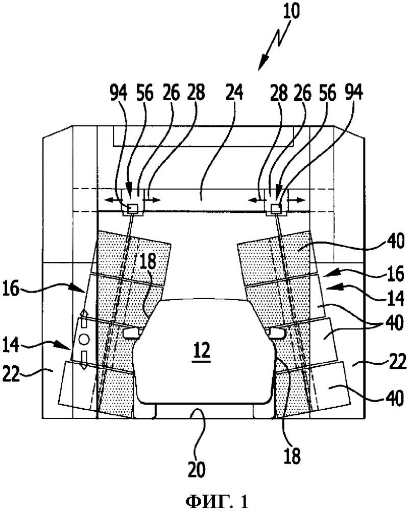 Щетка и установка для обработки транспортных средств