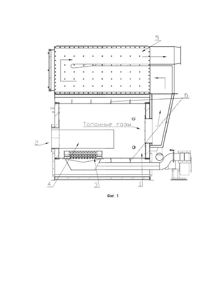 Теплогенерирующая установка для нагрева воздуха в технологических целях с использованием в качестве топлива отходов сельского хозяйства, в том числе тюкованной и рулонной соломы
