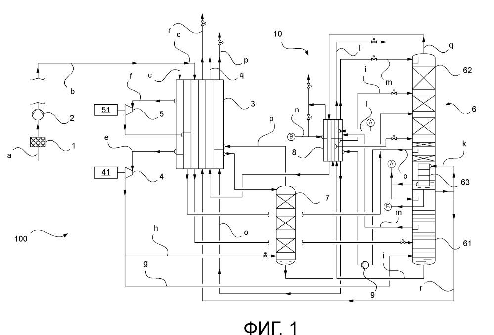 Способ получения жидкого и газообразного, обогащенного кислородом продукта разделения воздуха в установке разделения воздуха и установка разделения воздуха