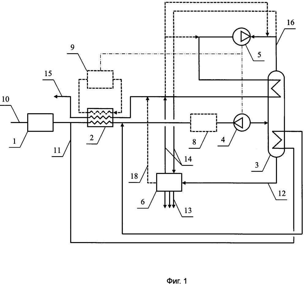Установка низкотемпературного фракционирования для деэтанизации магистрального газа (варианты)