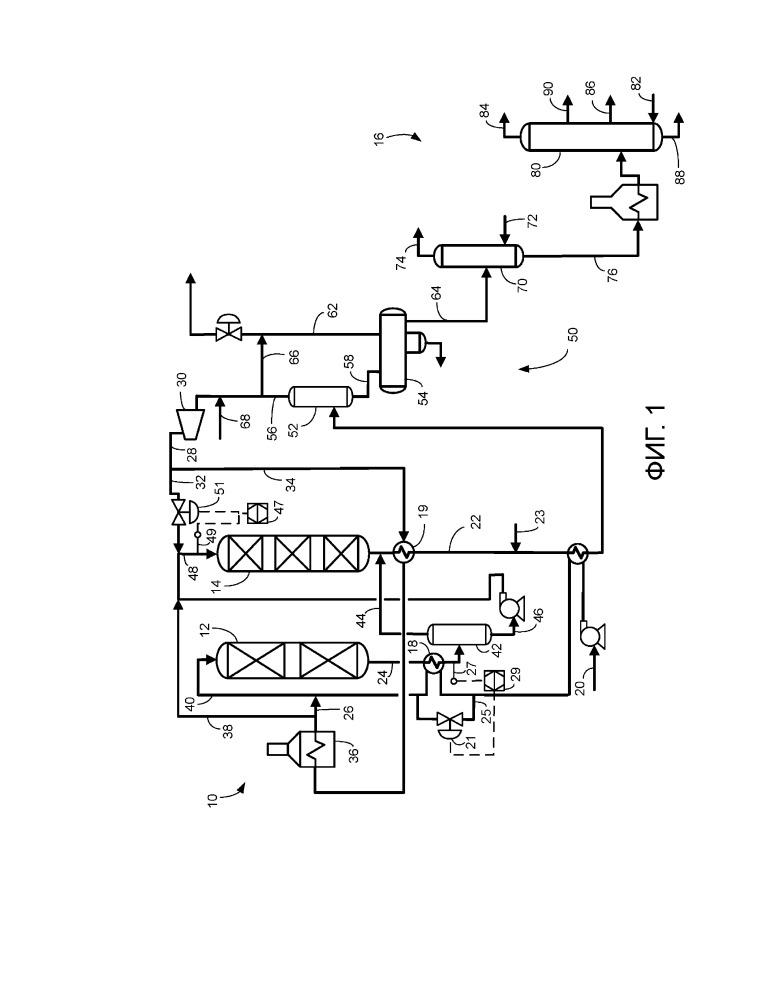Способ и устройство для постадийной гидроочистки и гидрокрекинга