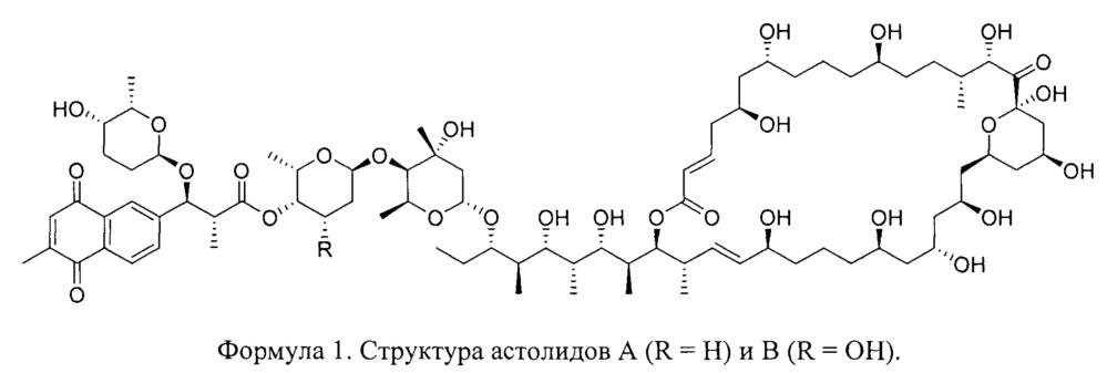 Способ выделения и очистки нафтохиноновых противогрибковых антибиотиков астолидов а и в