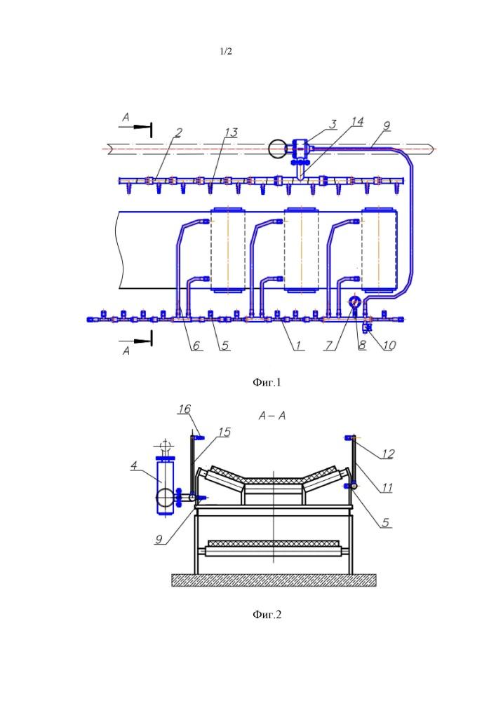 Установки пожаротушения ленточного конвейера к конвейерам с тяговым органом относятся