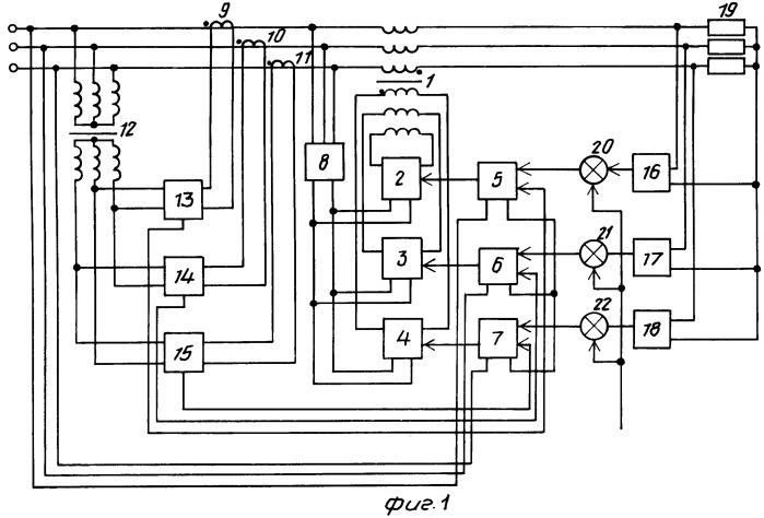Компенсатор реактивной мощности схема электрическая