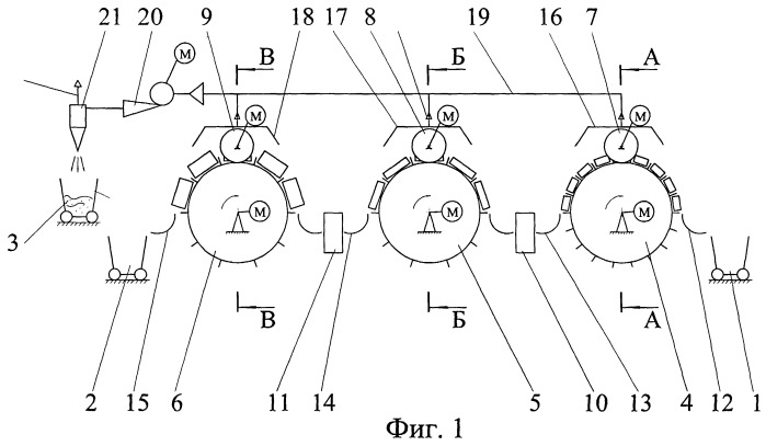 Роторная линия обработки пенодиатомитовых кирпичей