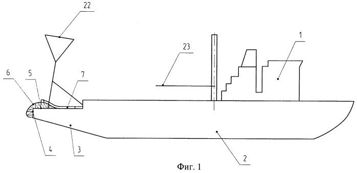 Судно технического флота, подводная система для одноопорной швартовки и обслуживания судов и способ ее сооружения