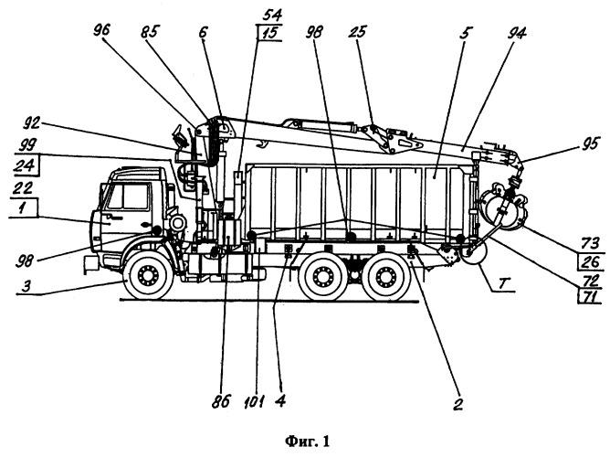 Кран-манипулятор металловозный самосвального типа