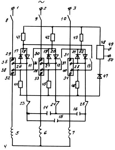 Устройство для управления трехфазным асинхронным электродвигателем