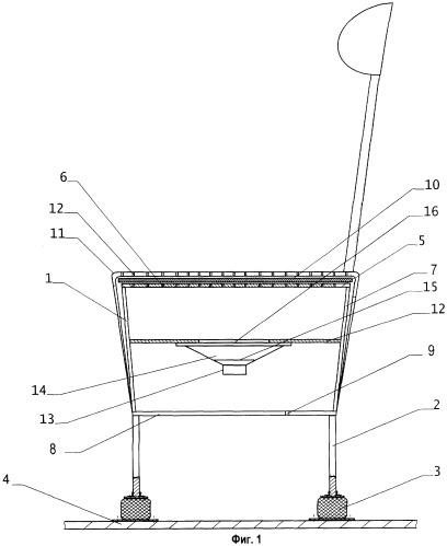 Кресло пилотажного тренажера с имитаторами вибраций и шума