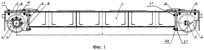 Концевая балка мостового грузоподъемного крана