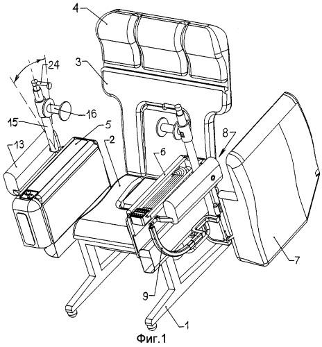 Офисное или домашнее кресло и средство для физической разминки рук в положении сидя