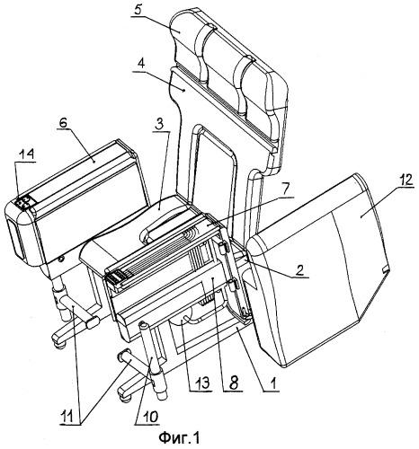 Офисное или домашнее кресло и средство для физической разминки ног в положении сидя