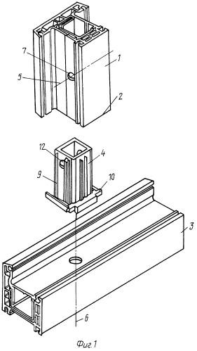 Способ крепления импоста к коробке и механический соединитель для его осуществления