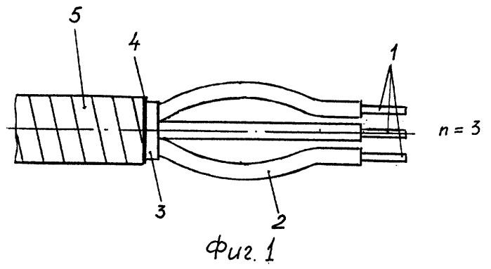Способ концевой заделки многожильного нагревательного кабеля (варианты)
