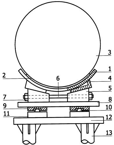Подвижная опора трубопровода
