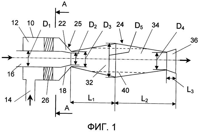 Струйное устройство для транспортирования сыпучих материалов