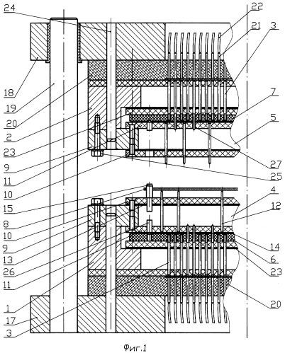 Двухстороннее контактное устройство для контроля многослойных печатных плат