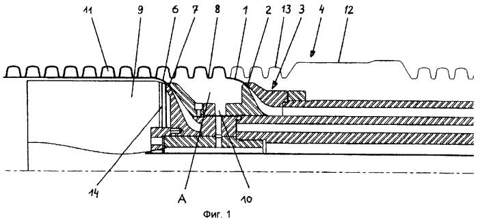 Способ и устройство для изготовления термопластичной трубы с двойными стенками и соединительной муфтой