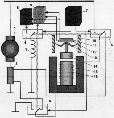 Тензорезисторный регулятор напряжения и тока стартера-генератора