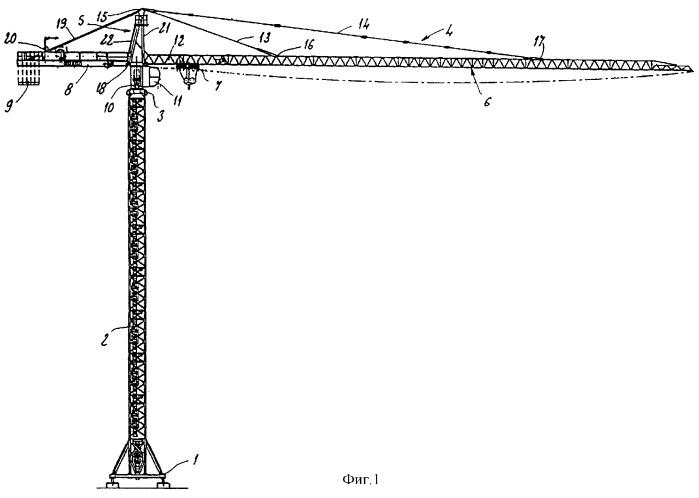 Поворотная часть башни башенного крана и способ ее монтажа