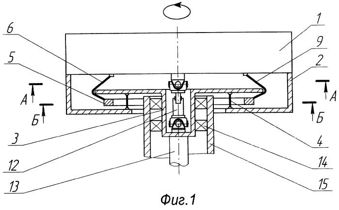 Вертикальный роторный механизм с самобалансирующимся рабочим органом