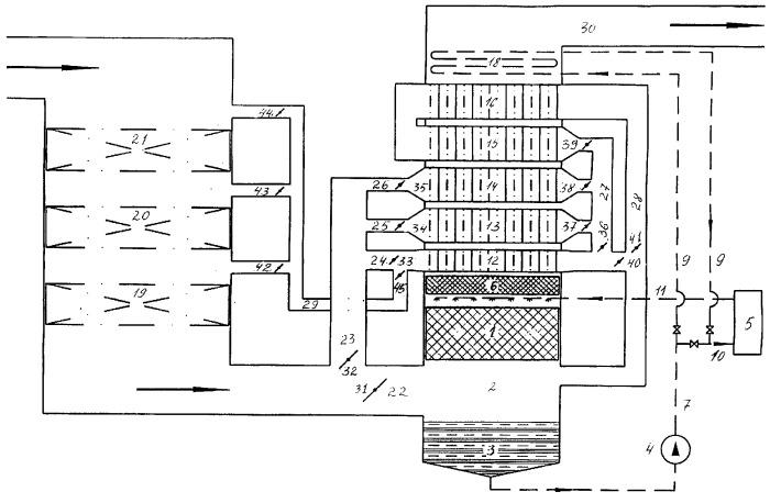 Установка глубокой утилизации тепла уходящих газов и способ предотвращения конденсации в хвостовых элементах газового тракта
