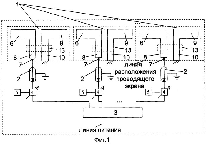 Линейная вибраторная фазированная антенная решетка