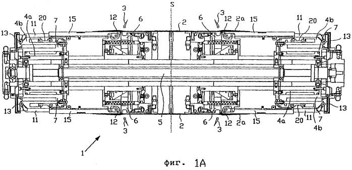 Барабан для сборки шин, снабженный устройством для заворота кромок браслета вверх