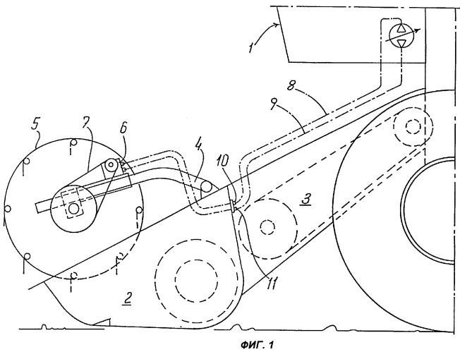 Подборщик сельскохозяйственной машины, снабженный гидравлическим приводом