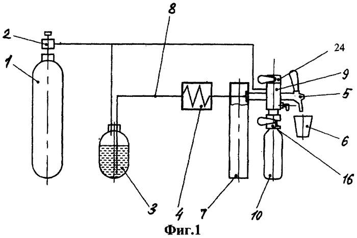 Устройство для ручного розлива пенящихся и/или газированных напитков