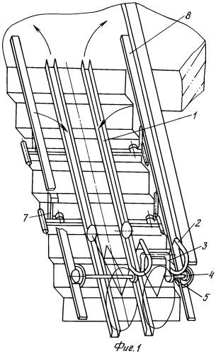 Устройство подачи инвалидного кресла-коляски по рампам лестницы