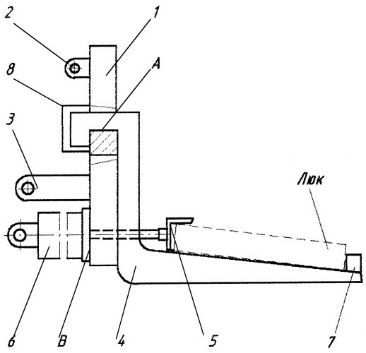 Навесное приспособление для ремонта люка полувагона