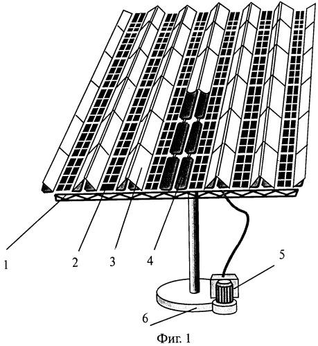 Гелиоэнергетический модуль для преобразования принимаемого электромагнитного излучения и система его ориентации