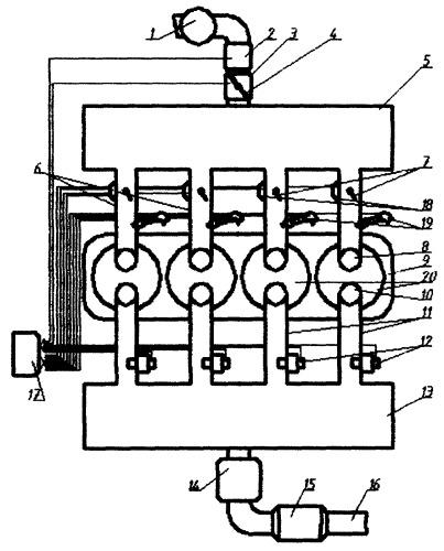 Газовоздушный тракт двигателя внутреннего сгорания