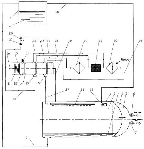 Устройство изменения давления газа в камере пневмопривода с аккумулирующей емкостью