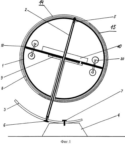 Глобус-часы