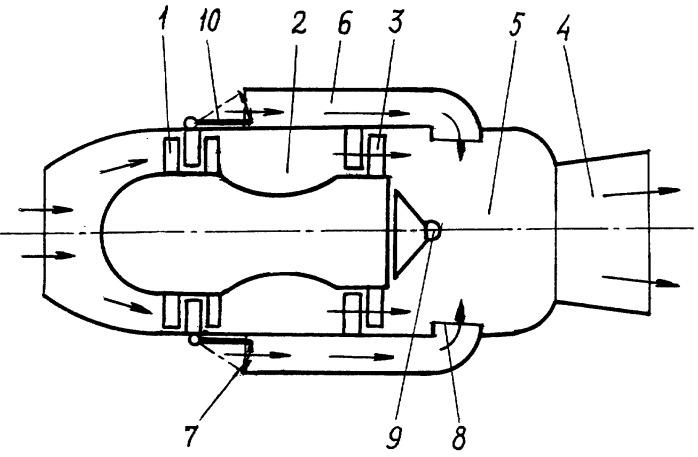Способ создания реактивной тяги и устройство для его осуществления в виде комбинированного воздушно-реактивного двигателя