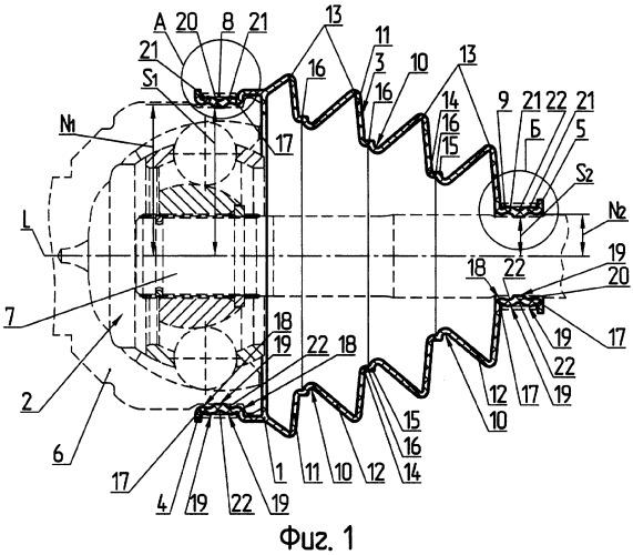 Защитный чехол из термоэластопласта для шарнира