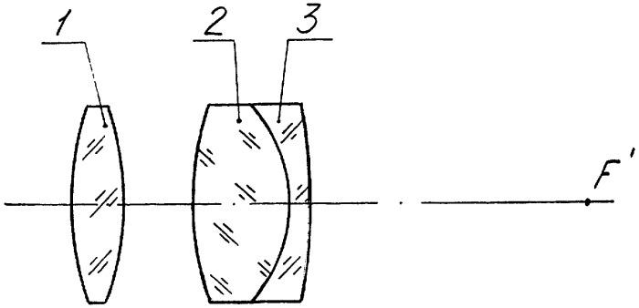 Трехлинзовый объектив с вынесенным входным зрачком