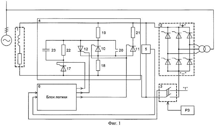 Способ и устройство гашения магнитного поля обмотки возбуждения синхронной машины (варианты)
