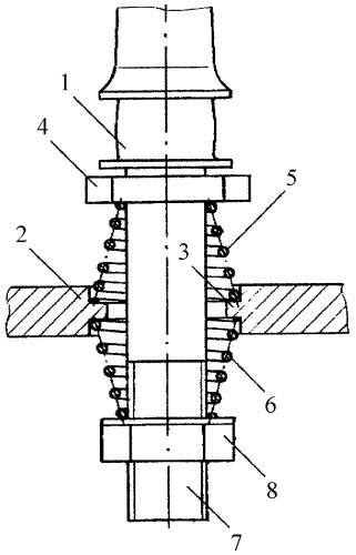 Устройство для виброизолирующей установки веретена на машине